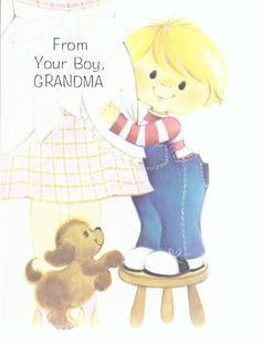 Vintage Mothers's Day Greeting Card for Grandma.