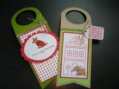 Christmas Wine Bottle Tags Set of 2 Dog Lover by apaperaffaire, $5.75