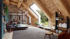 A+Cozy+Modern+Rustic+Cabin+In+The+Trees