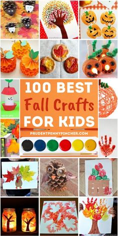 Get crafty this autumn with these fun and easy fall crafts for kids of all ages. From crafts for toddlers to crafts for elementary school children, there are plenty of DIY fall craft ideas for children to choose from.