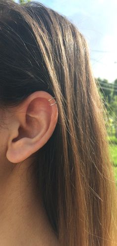 tiny double wrap ear cuff, fake piercing, no piercing needed, double cuff, small upper ear cuff, cartilage cuff, dainty ear cuff, boho cuff
