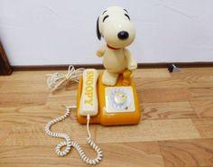 Vintage SNOOPY Dial Phone Telephone 1981 Peanuts Import Japan 952