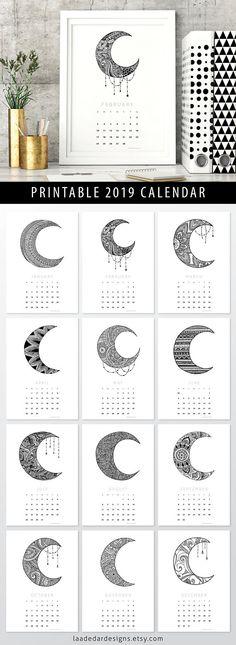 2019 Calendars Calender printables Pinterest Calendar, 2019