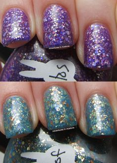Indie Polish: Hare Oceans of Alloys and Amethystos Swatches!