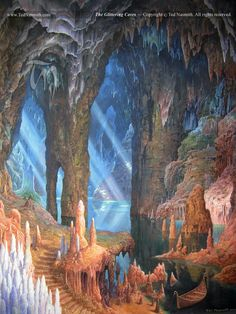 'The Glittering Caves' by Ted Nasmith