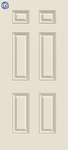 Painted 3068 6-Panel Fiberglass Front Entry Door