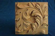Wood--acanthus leaf