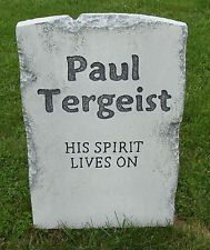 "Halloween 'Paul Tergeist' tombstone prop decoration 24""x16""x2"""