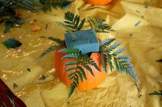 Pumpkin Flower Arrangement {Thanksgiving Centrepiece} - Life at Cloverhill Sunflower Leaves, Sunflower Bouquets, Fall Floral Arrangements, Christmas Arrangements, Fall Flowers, Purple Flowers, Rehearsal Dinner Cake, Thanksgiving Centerpieces, Thanksgiving Ideas