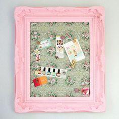 DIY Framed Vintage Wallpaper Magnetic Board DIY Home DIY Crafts