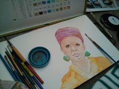 #portrait #moleskine #watercolor #illustration #art