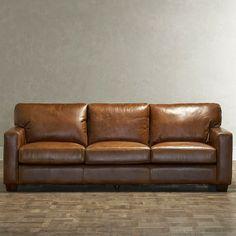 blonde+tall: Birch Lane Fletcher Leather Sofa