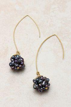 Freshwater Pearl Cluster Earrings-they look like blackberries to me!