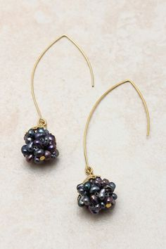 Blue Freshwater Pearl Cluster Earrings | Emma Stine Jewelry Set