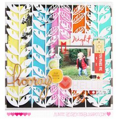 Hooray! by SheriTwing at @studio_calico | scrapbook layout made with Silhouette CAMEO