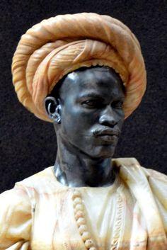 Soudan, Herve, Paris, Figurative, Black Men, Museum, Bronze, Statue, Marble