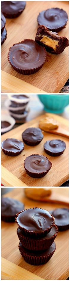 These Dark Chocolate Peanut Butter Cups are an easy, no-bake treat that contains just five ingredients and is perfect for the peanut butter lover!