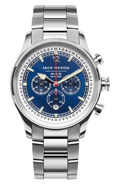 Jack Mason Brand Nautical Chronograph Bracelet Watch, 42mm