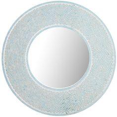 Mosaic Round Mirror - Aqua