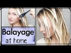 Balayage with two colors (lowlights) and balayage in between ...
