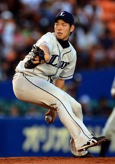 Yuusei Kikuchi tosses 7-plus sharp innings, allowing 2 runs and fanning 4 vs. Marines at QVC Marine Field on Wednesday, August 8, 2012.