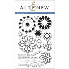 Altenew DODECAGRAM Clear Stamp Set AN103 Preview Image