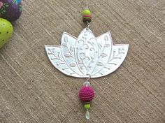 Boho Home Decor Embossed Metal Lotus Flower Art by FoilingStar, $34.00