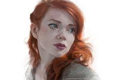 redhead, Anna Lakisova on ArtStation at http://www.artstation.com/artwork/redhead-3cb9ce07-ff05-4162-92ef-b983b3583668