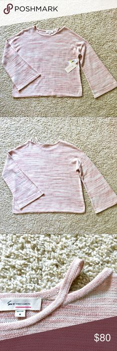 c939094fef64 Marled Lightweight Knit Sweater w  Bell Sleeves NWT Two by Vince Camuto  Cotton Candy pink and white marled lightweight knit sweater Boxy fit Bell  sleeves ...