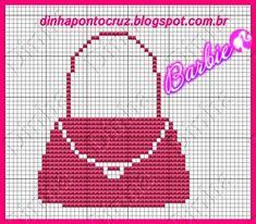 Boa sexta feira a todos!  Hoje trago gráficos do mundo cor de rosa da Barbie, espero que gostem:                       aqui algumas silhueta... Cross Stitch Designs, Cross Stitch Patterns, Crochet Patterns, Polly Pocket, Barbie Skipper, Purse Patterns, Perler Beads, Pixel Art, Embroidery Stitches