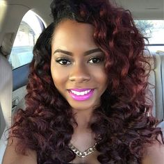 Ombre Hair Color for Black Women (52)