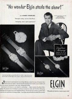 Jimmy Stewart for Elgin watches