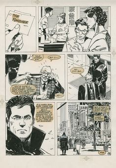 Punisher page, in Rev. DaveJohnson's Jorge Zaffino Comic Art Gallery Room