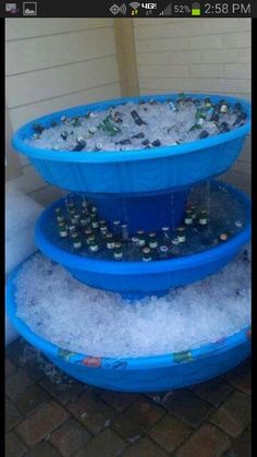 Right?!  Kids pool turned into a party cooler