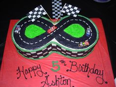 8th Birthday Cake, Race Car Birthday, King Birthday, Birthday Cakes For Men, Boy Birthday Parties, Nascar Cake, Nascar Party, Race Car Party, Race Track Cake