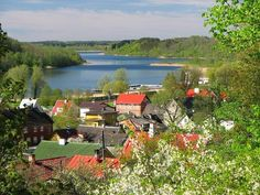 Viljandi by the Lake of Viljandi, Estonia