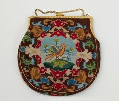 1920s Clothing at Vintage Textile: #1442 Needlepoint bag