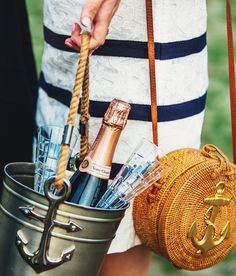 """kieljamespatrick: """"Time to wine down and champagne up. #VCPoloClassic veuveclicquot vineyardvines """""""