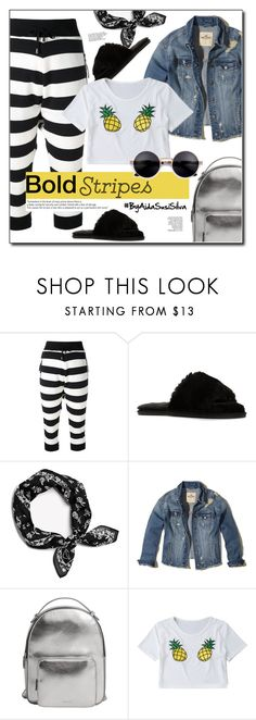 """""""Strong Stripes: Graphic Striped Pants"""" by aidasusisilva ❤ liked on Polyvore featuring UNCONDITIONAL, rag & bone, Hollister Co., MANGO and stripedpants"""
