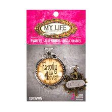 My Life by Amy Labbe Family Pendant Set