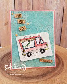 Sootywing Studios: Tasty Trucks - SAB, Stampin, Up!, SAB 2017, Thank You card