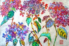 Hydrangea on Silk - Sofia Perina-Miller