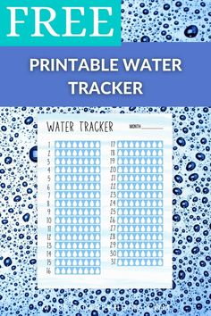 This free printable Monthly Water Tracker, with its simple and easy layout, is a great visual way to keep track of our water intake. Water tracker | Water Intake | Printable Tracker | Habit Tracker | Printable Organisation | Printable Binder Binder, Free Printables, Track, Layout, Simple, Water, Easy, Organization, Gripe Water