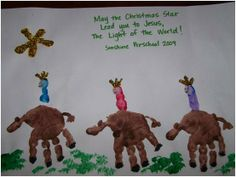 K is for We Three Kings  But I'm going to make the camels like the other handprint camel I pinned.