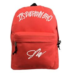 Jake Paul sweaters, shirts, and more. The only place to get official Jake Paul apparel. Red Backpack, Backpack Bags, Team 10 Merch, Jake And Erika, Jake Paul Merch, Jack Paul, Red Bags, Bro, Backpacks