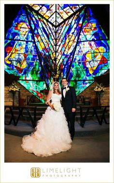 Limelight Photography, www.stepintothelimelight.com, Weddings, Grace Lutheran Church, St. Petersburg, Florida, Bride, Groom, Wedding Dress, White, Stained Glass, Portrait