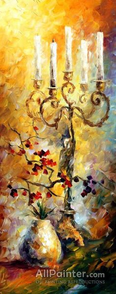 Leonid Afremov Candles oil painting reproductions for sale
