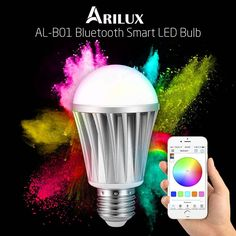 ARILUX AL-B01 E27 7W RGBW Bluetooth 4.0 Dimmable LED Smart Bulb for iPhone iPad and Android Phones Sale - Banggood.com
