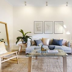Recently styled by #thehiredhome. @norsuinteriors @globewest #propertystyling #sydneyrealestate #interiordesign #homestaging #styledtosell #interiorlove #livingroom #loungeroom