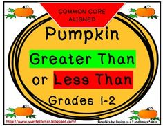 This product is a 36 - page COMMON CORE aligned unit for Grades 1 and 2. It is focused on Comparing Numbers and Place Value.  Your students will LOVE this hands on activity. They will decorate the pumpkin's face by putting the correct symbol on the pumpkin's nose.  I've included an accountability piece. The students will complete a student friendly Common Core rubric.  This vividly colored unit comes with sample step by step illustrations for students in need of extra reinforcement.